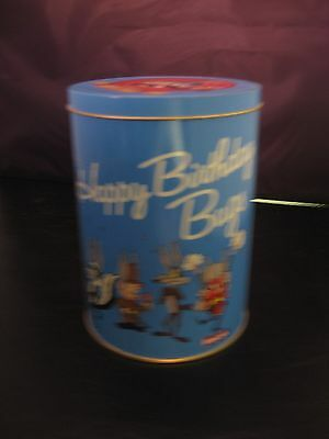 Collectable tin can Happy Birthday Bugs Bunny Brachs candy 50th Anniversary 1989