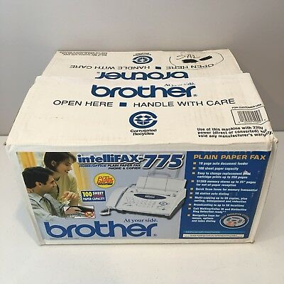 Brother Intellifax 775  Plain Paper Fax with Phone and Copier New in Box