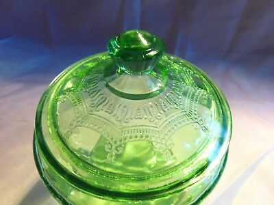 Ballarina cameo green anchor hocking cracker jar
