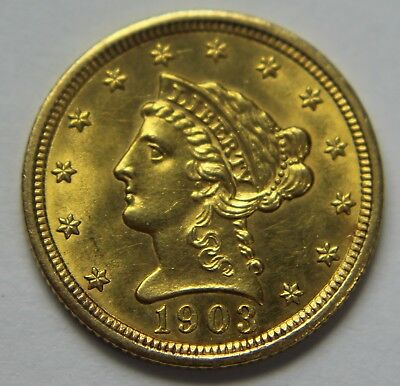 1903-P Liberty Head Gold $2.50 Quarter Eagle 22k Old US Coin NR Free Ship W061