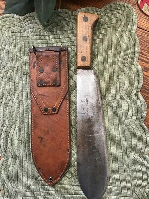 WW2 USMC Bolo Knife and Boyt Sheath! Chatillon N.Y.