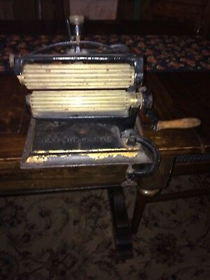 Antique 1875 CROWN  Fluter Iron