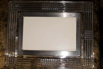 Authentic WATERFORD CRYSTAL Art-Deco Style Picture Photo Frame, Adjustable Back