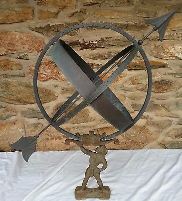 Vintage Solid Brass Replica Of A French Armillary Sundial Nadon 1979 Hand Made