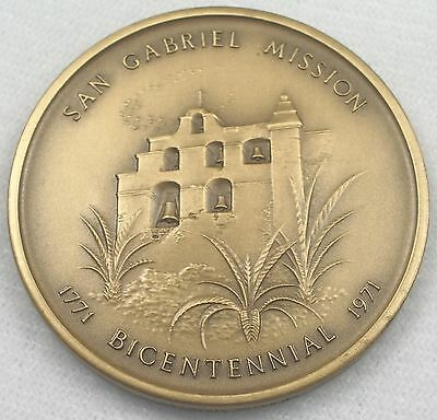 San Gabriel Arcangel California Mission Medallic Art Co. Bronze Medal / N114