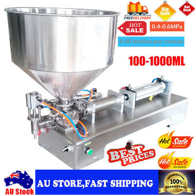 Automatic liquid paste filling machine for cream,butter,100-1000ml with hopper