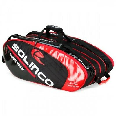 Solinco 12 Racquet Tennis Bag Black/Red