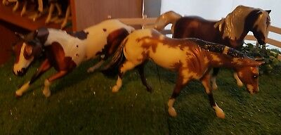 Breyer classic lot of 3! Custom loping QH mare, CM  barrel racer, one Mustang