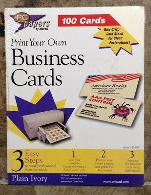 A8 PC papers 100 cards - Print Your Own Business Cards, #35583