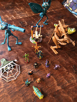 'A Bugs Life' Lot of 17 Mini & Action Figures & Props PVC 'Action Circus Act'