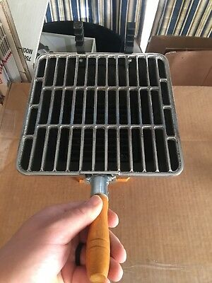 Vintage Japan Cast Iron Hibachi Table Top Grill New condition 10x10 Large warmer