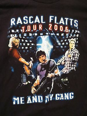 Rascal Flatts 2006 Me and My Gang Tour Concert T-Shirt Size 2XL Country Music