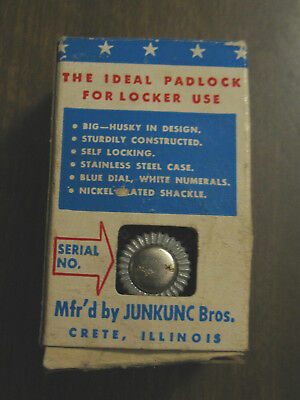 Vintage AMERICAN Combination Padlock Lock #300  MADE USA Red Dial No Key Junkunc