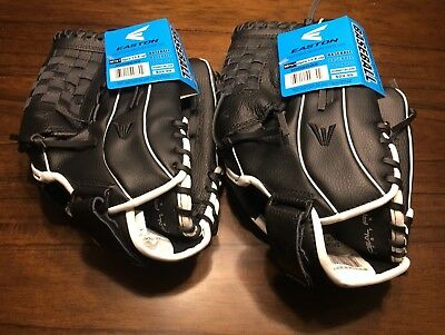 "Lot of 2 New Easton Reflex Baseball / Softball Gloves 12 1/2"" Inches"