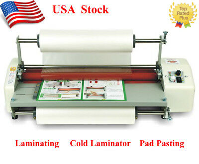 """17.3"""" A2 Roll Laminator Speed Adjustable Four Roller Hot Cold Laminating Machine"""