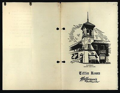 Tiffin Room Wolferman's Country Club Plaza, Kansas City MO. - 5/9/40 Lunch Menu