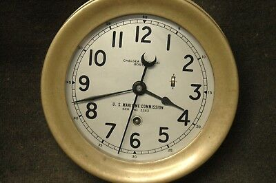WWII US Maritime Commission Chelsea Ships Clock serial 302489 May 1942