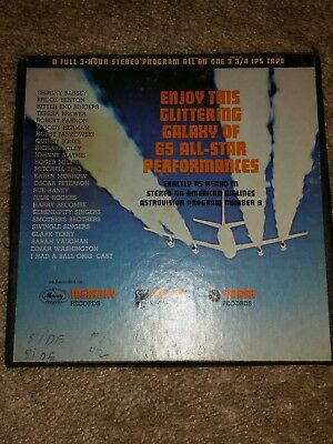 American Airlines Astrovision Glittering Galaxy W-9 Stereo Reel To Reel Music