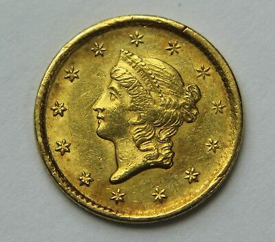 1851-P Liberty Head Gold Dollar $1 22k Old US Coin NR Free Ship W041