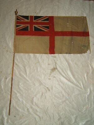 antique british english uk naval flag navy 1800s 19th century ww1 wwi vtg old