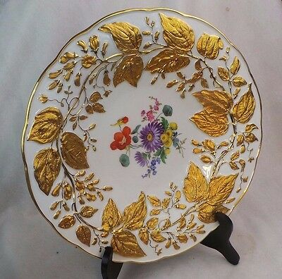 Antique Meissen Gilded Charger Plate