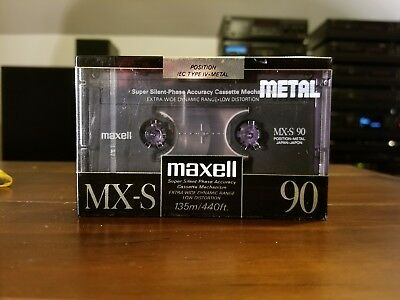 MAXELL MX-S 90 Metal Cassette Tape NEW& SEALED - Made In Japan