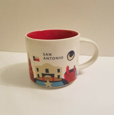 Starbucks 2013 San Antonio Texas You Are Here Mug Cup 14 oz Excellent  Condition