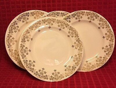 Royal China Gold Krest Plates and Bowls 22k Warranted Gold Set Of 11 Pieces