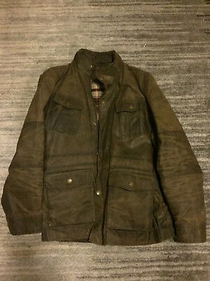 Jack Spade Waxed Cotton Jacket - EXCELLENT CONDITION - Olive green,/brown size S