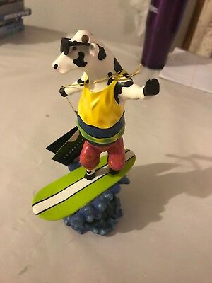 RETIRED! COW PARADE: ~COWABUNGA~ SURF'S UP! #7253 signed 1375