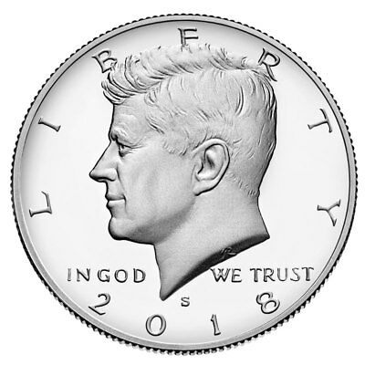 In Stock!!! 2018-S Kennedy Half Dollar-Deep Cameo Clad Proof, Same Day Shipping!