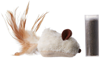 KONG Refillable Catnip Feather Mouse Cat Kitten Toy Play Drive Crazy