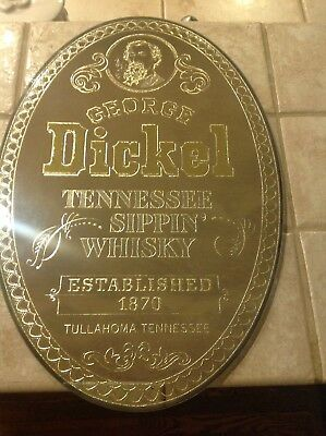 George Dickel Tennessee Sippin Whisky Bar Mirror Sign Tullahoma, TN
