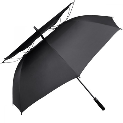 G4Free 62 Inch Windpoof Golf Umbrella Double Canopy Vented Large Waterproof Stic