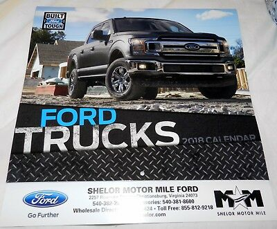 "Official Licensed Ford ""2018 Motorcraft Ford Trucks 13 Month wall Calendar"""