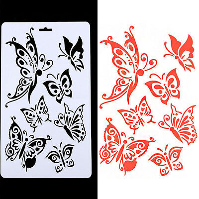 Butterfly Bullet Scrapbooking Stencil Planner DIY Drawing Template Paper Diary