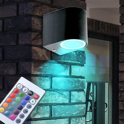 Rgb led down spotlight garden colour changing wall light patio rgb led down spotlight garden colour changing wall light patio outdoor lamp aloadofball Images