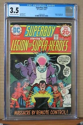 Superboy #203 CGC 3.5 Off-White pages, DC 7/1974, Nick Card cover,Mick Grell Art