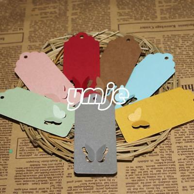100Pcs Butterfly Label Hang Tag For Jewelry Clothes Shoes Paper Price Tag New