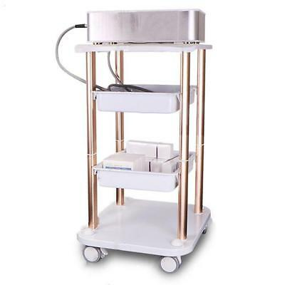 Beauty Salon Spa Holder Pedestal Rolling Cart ABS Trolley Instrument Stand	 A+