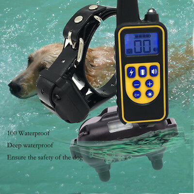 800M Remote Control Dog Electric Training Collar For Dog Rechargeable Waterproof