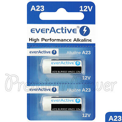 2 x everActive A23 Alkaline batteries 12V MN21 8LR932 Remote control GREAT VALUE