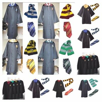 Harry Potter Gryffindor Hogwarts Adults Child Robe Cloak Scarf Tie Cos Costumes