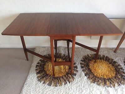 Excellent Vintage Teak Mid Century Dining Table Gatefold Extendable To Seat 8