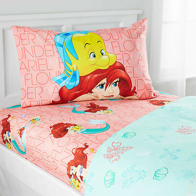 Little Mermaid Bedding Sheet Set For S Bed Room Decor Twin Size Ariel