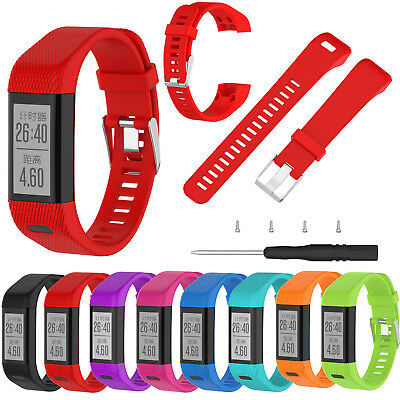 Soft Silicone Replacement Watch Band Strap w/Tool For Garmin Vivosmart HR Plus