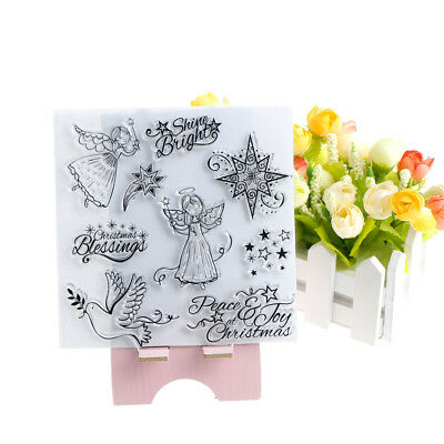 angel photo album paper card clear stamp embossing stencils scrapbooking kh9