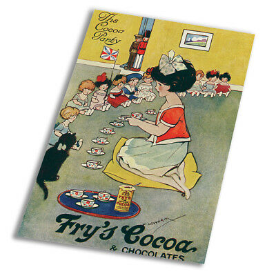 The Cocoa Party Frys Cocoa - Vintage Art Print Poster - A1 A2 A3 A4 A5
