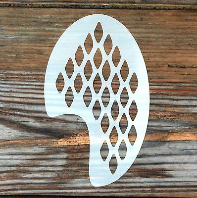 Snake Skin Face Painting Stencil approx 12cm x 8cm