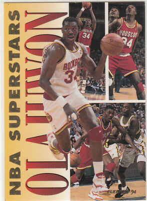 1993-94 Fleer Basketball Superstars  - Hakeem Olajuwon #15 Of 20